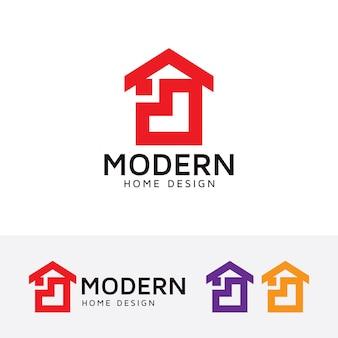 Современный шаблон логотипа домашнего дома