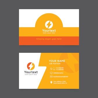 Современный и чистый шаблон визитной карточки