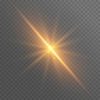 抽象的な金の光線が輝く