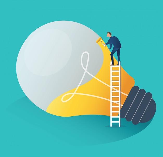 実業家協力創造的なアイデアのコンセプト