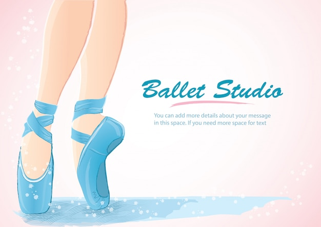 Женщина балерина ноги фон