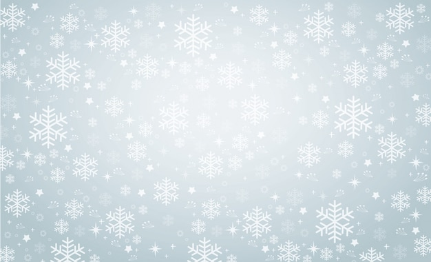 スノーフレーク冬の背景のベクトル