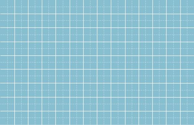 白いパターンの背景を持つ破線グリッド紙