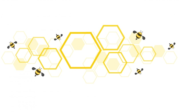 Пчелиный улей фон