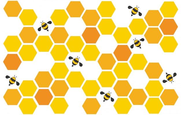 ミツバチの巣箱の背景