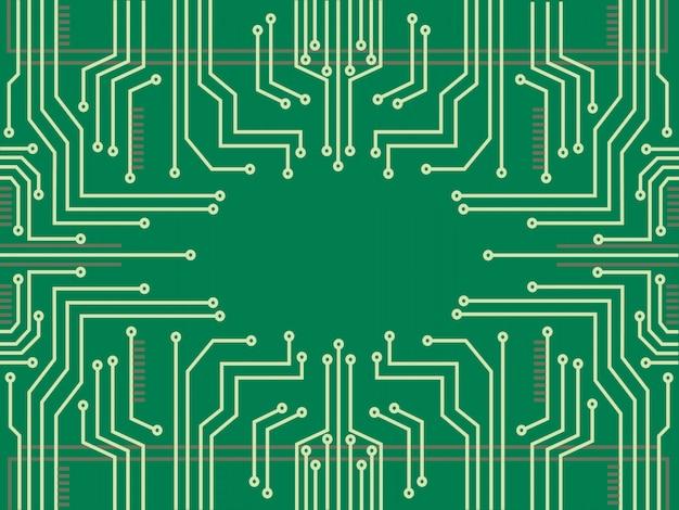 Фон технологии микрочип линии
