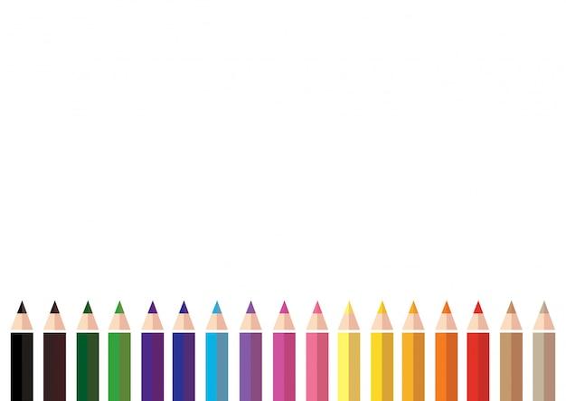 カラフルな色鉛筆の背景