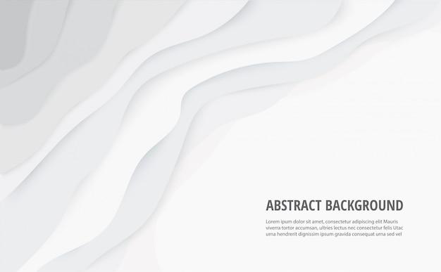 抽象的な白灰色の線の背景