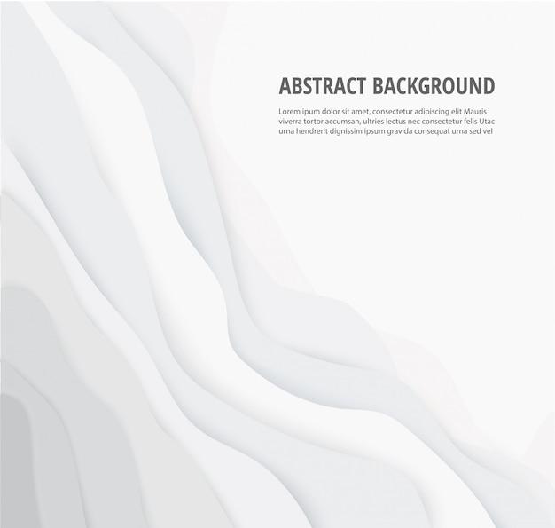 抽象的な白灰色の線の幾何学的な背景