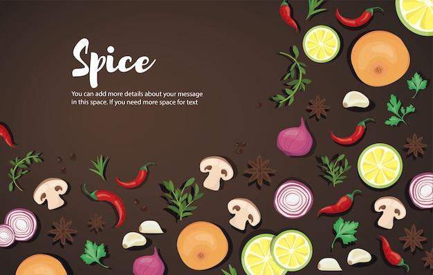 スパイスと野菜の食べ物