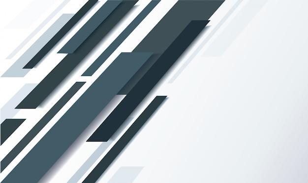 抽象的な黒い線と白い背景