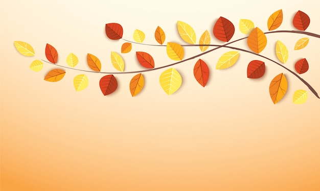 秋の紅葉と書き込み用のスペース