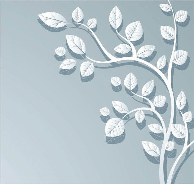 Белые листья фон