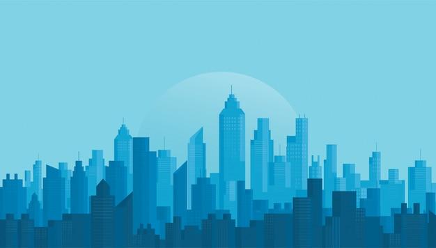 近代都市のスカイラインの背景