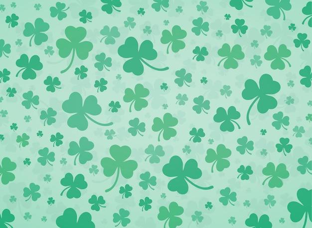 Зеленый клевер листья фон вектор