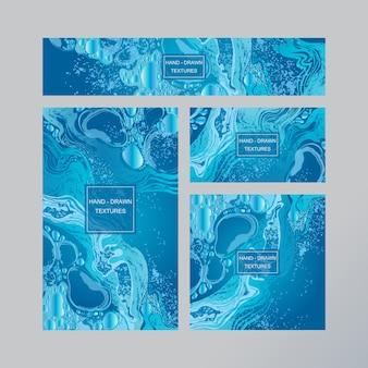 Мраморная абстрактная визитная карточка