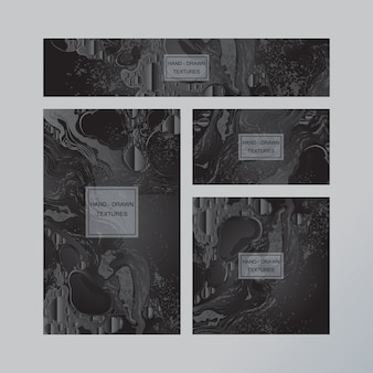 大理石の抽象的な名刺