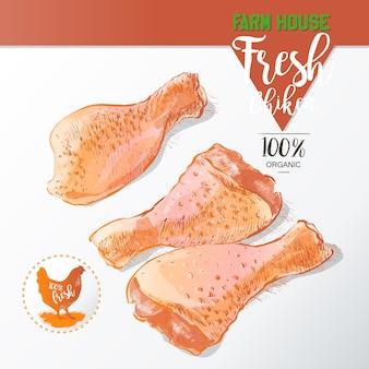 新鮮な鶏の足