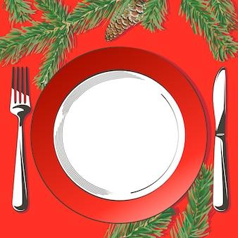 設定図を飾るクリスマステーブル