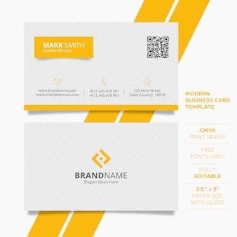 Простой креативный шаблон визитной карточки
