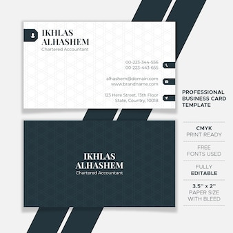 Шаблон корпоративной чистой визитки