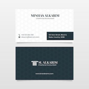 Шаблон юридической юридической фирмы стиль минимальная визитная карточка