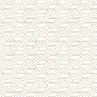 スタイリッシュな六角形の線のパターンの背景