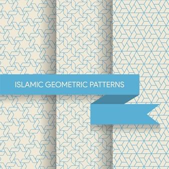 シームレスな幾何学的なイスラム模様のテクスチャコレクション