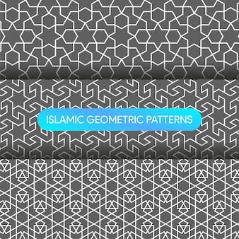 イスラムの幾何学模様の背景コレクション