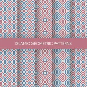 活気に満ちたイスラムシームレスパターンテクスチャコレクション