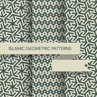 シームレスなイスラム幾何学模様コレクション