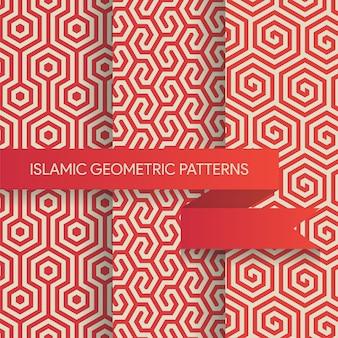 シームレスな幾何学的背景パターンコレクション