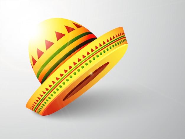 光沢のあるメキシカンハット