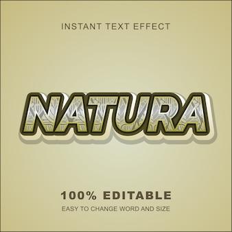 Натура текстовый эффект