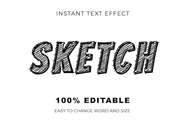 Эскиз текста эффект