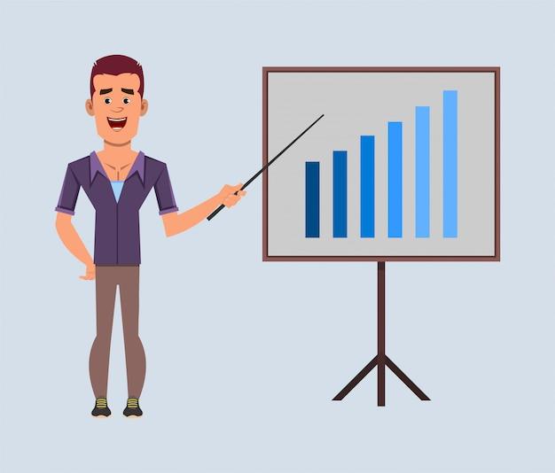 Случайные бизнесмены мультипликационный персонаж дает представление
