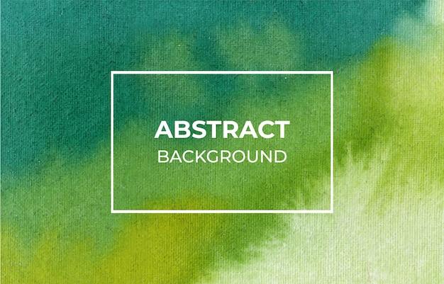 抽象的な緑の水彩画の背景