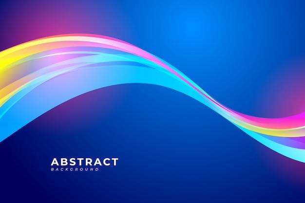 カラフルな波とあなたのポスター、バナー、パンフレット、ランディングページの流体設計要素と抽象的な背景。