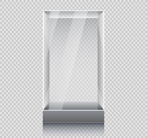 空のガラスのショーケース