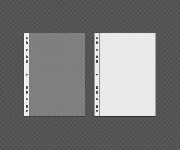 白い空白のパンチポケットベクトル