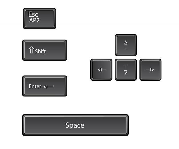 メインキーボードのキーベクトル。