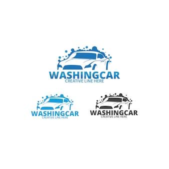 洗濯車のロゴのテンプレート