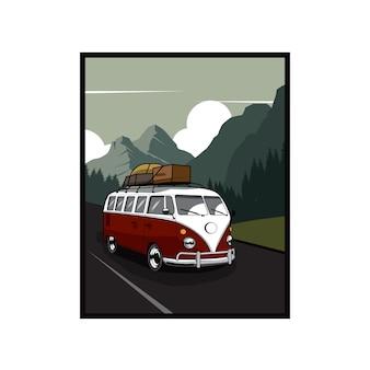 Автобус идти в гору