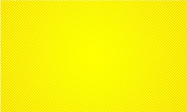 抽象的な黄色背景レトロコミックスタイルハーフトーンポップアート