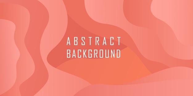 Абстрактный геометрический фон формы с коралловым цветом