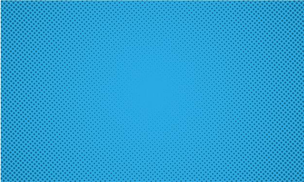 抽象的な青い背景レトロコミックスタイルハーフトーンポップアート
