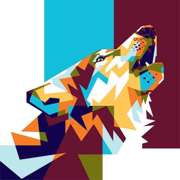 フルカラーオオカミの背景