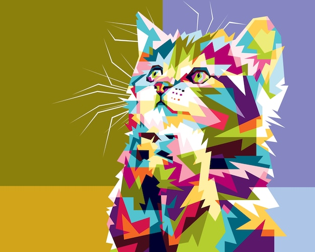 カラフルな猫の希望