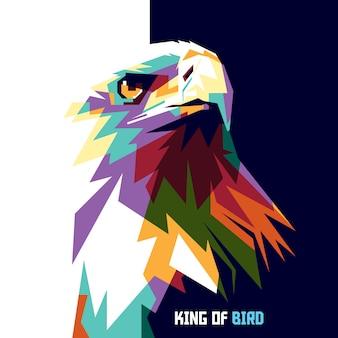 鷲。カラフルな鳥の王