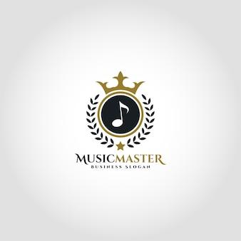 Музыкальный мастер-лояльный логотип